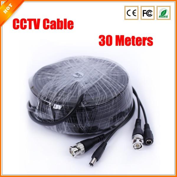 bilder für Neue Schwarze Farbe 30 mt (100ft) Lange BNC Power Video CCTV Kabel für Sicherheitssystem CCTV Zubehör