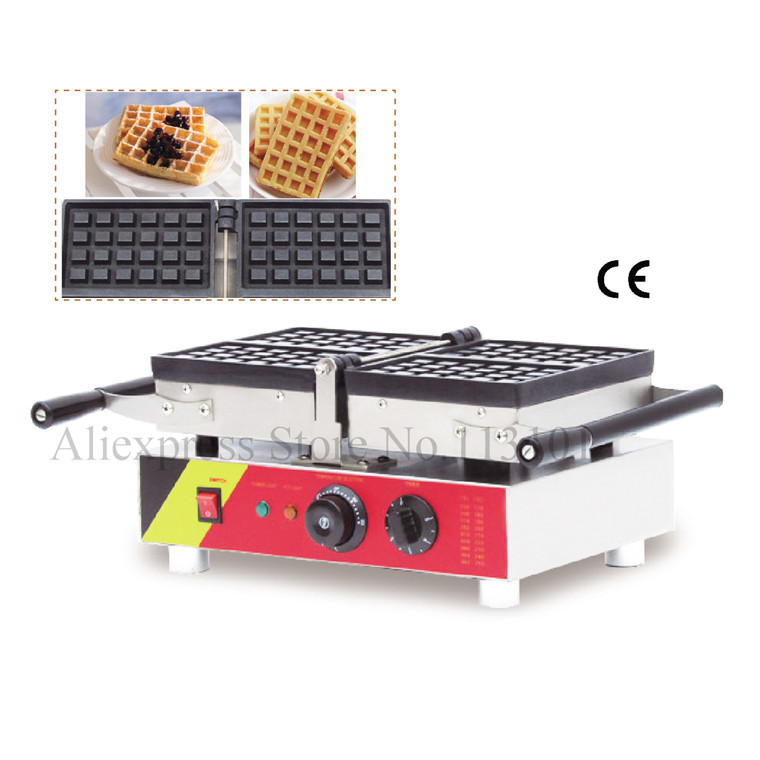 Commercial Conact Waffle Machine Belgian square waffle maker stainless steel folding type waffle baker with 4 pcs waffle moulds new design butterfly shape waffle maker commercial waffle maker belgian waffle maker waffle baker