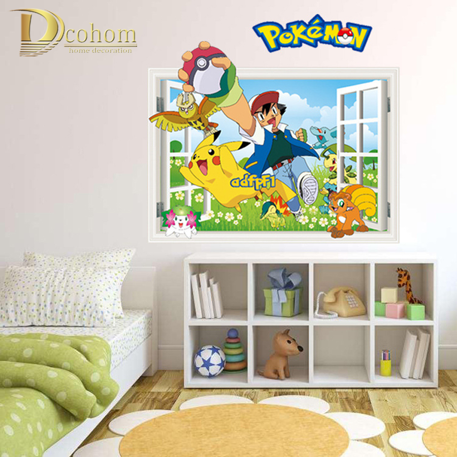 Pokemon Wall Decor compare prices on pokemon 3d wall stickers- online shopping/buy