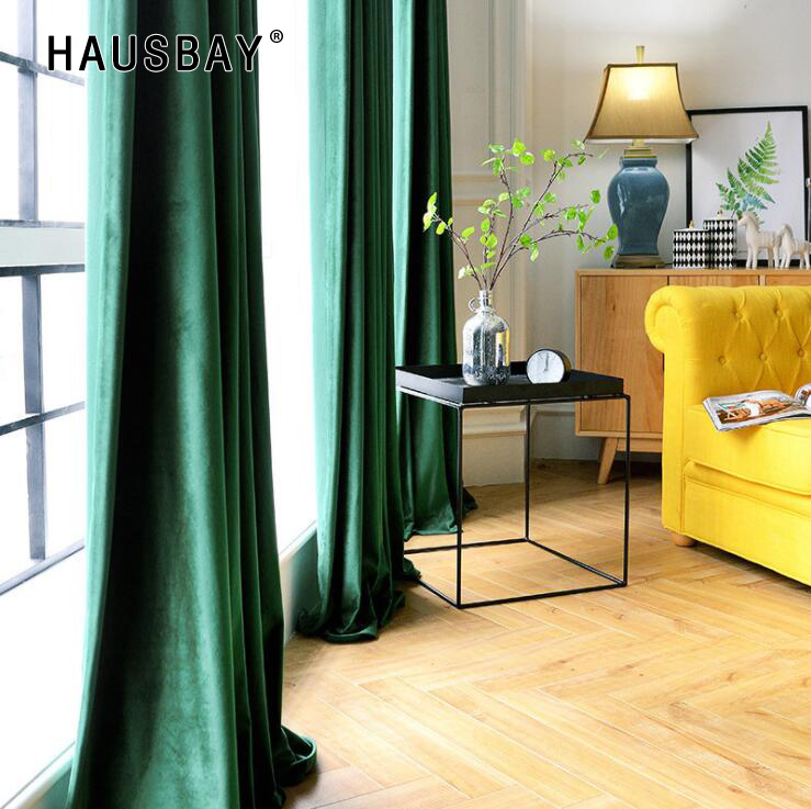 High Shading Velvet Blackout Windows Curtains For Living Room Bedroom Interior Solid Color Home Decoration CT1023