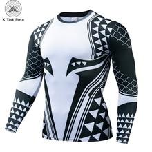 Camiseta de compresión Aquaman para hombre, camisetas impresas en 3D para hombre, novedad de 2019, camisetas de manga larga para Cosplay de cómics, ropa deportiva para hombre