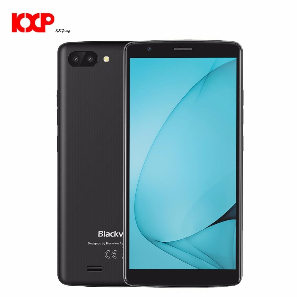 "NEW Blackview A20 MT6580M Quad Core 1.3G Android Go 5.5""18:9 IPS Quad core mobile phone Dual Rear Camera 3000mAh GPS 3G unlocked"