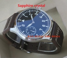 Sapphire crystal PARNIS big pilot ST3600 6497 gooseneck fine tuning movement blue luminous watches men s