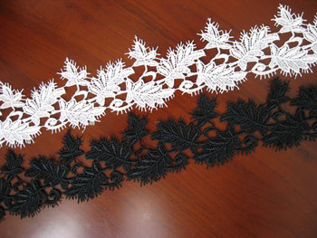 Off White Venice Lace Trim Leaves Branch Bridal Lace Fabric 14 yards