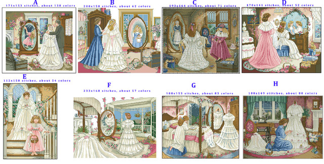 Vestidos de novia punto de cruz