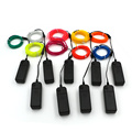 LED Strings 2M 9 Colors EL Wire Car Flexible  Neon Light Dance Party Decor Light Neon lamps Rope Tube with Controller