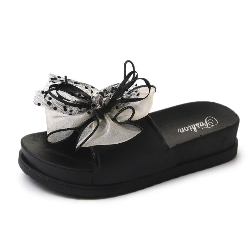 Women's Slippers Ladies Summer Beach Lace Platform Slipper Casual Wedge unicornio Slippers Women Shoes woman flip flops A6 swonco women s slippers half shoes candy color breathable female slipper 2018 woman slippers summer sandals ladies beach shoes
