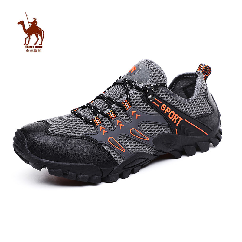 CAMEL JINGE New 2019 Summer Outdoor Shoes Men Beach Mountain Trekking Tourism Breathable Waterproof Hiking for Camping