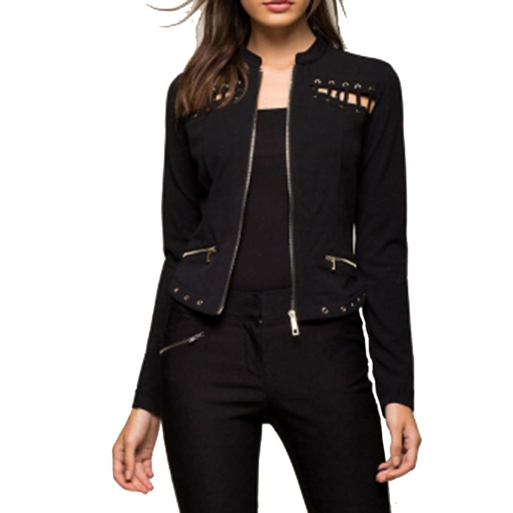 Street Style Black Woman: 2017 Autumn Spring Fashion Women Street Style Black Short