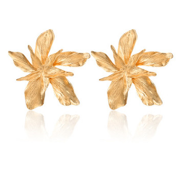 Big Flower Drop Dangle Earring for Women Earrings Jewelry Women Jewelry Metal Color: gold