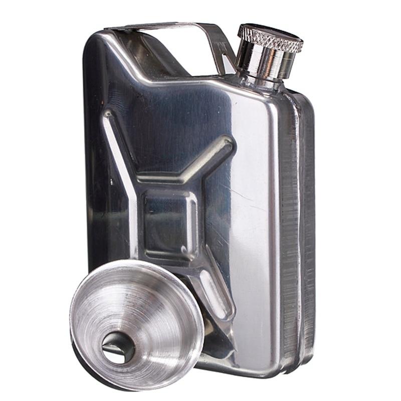 Newcomdigi 5oz Stainless Steel Funnel Liquor Funnel Bar Drink Bottle Hip Flask Liquor Whisky Bottle Drinkware