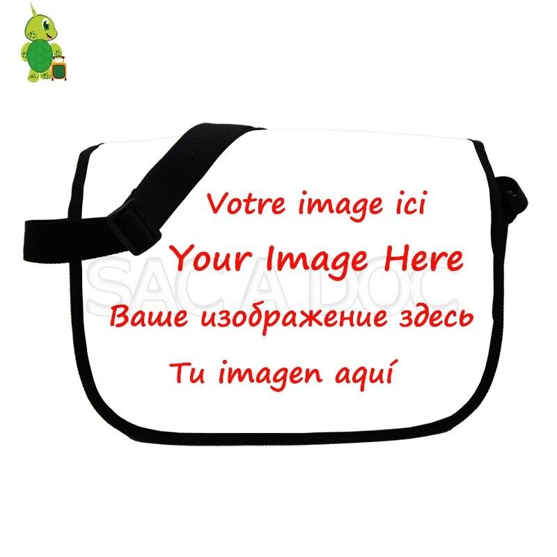 Handbag School Messenger-Bag Cool-Bags Your-Image Customize Men Crossbody Teenagers Fashion