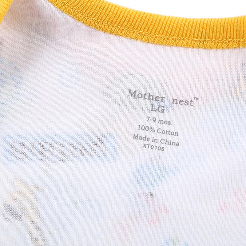 Newborn Baby Bodysuit Mother nest 2017 New Style Short Sleeve Print Little Ship Body Rope Bebe Boys Girls Clothes  (8)