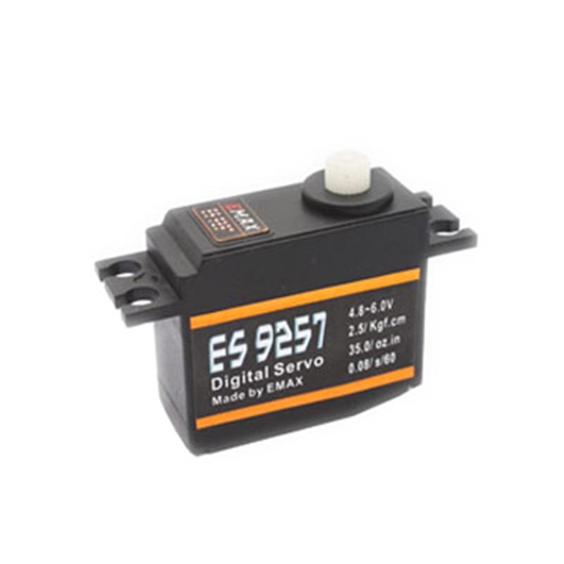 EMAX ES9257 микро Цифровой 3D задний сервопривод 2,5 кг/0,05 сек для 450 500 вертолетов