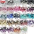 $0.99 El Envío Libre Muchos Colores SS20 5mm 500 Unids (11G) resina de la parte posterior Plana Redonda Plana Facetas Rhinestone Beads Nail Art Decora DIY
