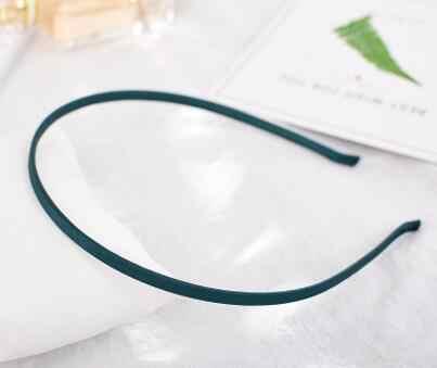 10PCS In Acciaio Inox Pianura In Bianco Piatto Fascia Dei Capelli Multi Colori 5 millimetri di Raso Coperto Fascia Hairwear Accessori Artigianato FAI DA TE gioielli