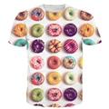 Новый Стиль Hipster 3D майка Красочные Пончики/Макарон/Конфеты Печать футболки Вкусный Десерт футболки Летом Мило майки Топы