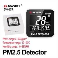 SNDWAY Газоанализаторы детектор угарного газа PM 2,5 контроль качества воздуха PM2.5 детектора Электрический SW-825 ЖК-дисплей Экран цифровой газовы...