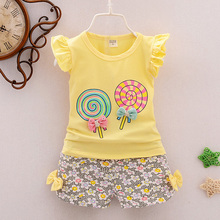 T-shirt Tops+Short Pants Clothes Set Fashion lovely baby girl clothes Toddler Kids Baby Girls Outfits стоимость