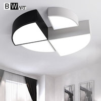 BMART 4 Kit Combinations LED Ceiling Light A Quarter Circle Minimalist Style Indoor Lighting For Bedroom