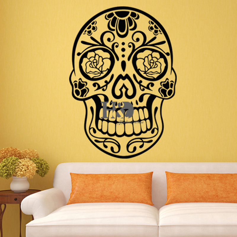 Wall Window Stickers MAP Wall Decor PVC Material Decals Skull ...