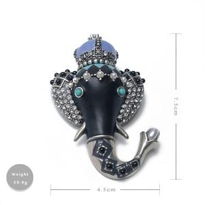 Image 5 - Amorita Boutique Lange Neus Kleine Olifant Pin Exotische Vintage Broche