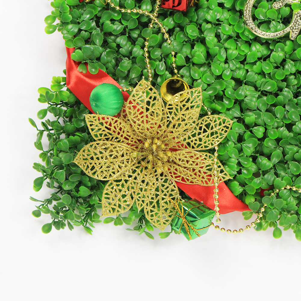 Merry Christmas Wall Decoration Artificial Green Plant Panel DIY ...