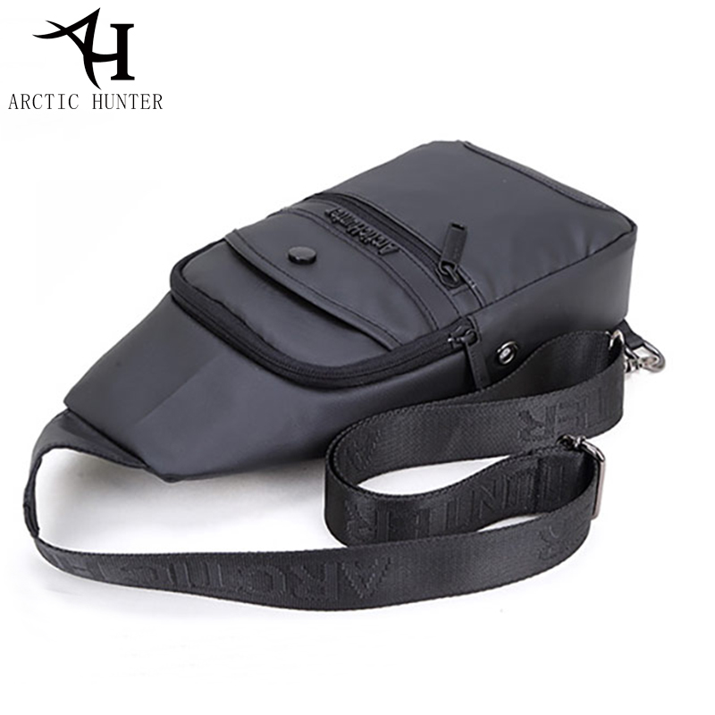 2018 Casual Black Chest Bag Male Waterproof Messenger Handbags Fashion Travel Backbag Crossbody Shoulder Bag For Male D0135
