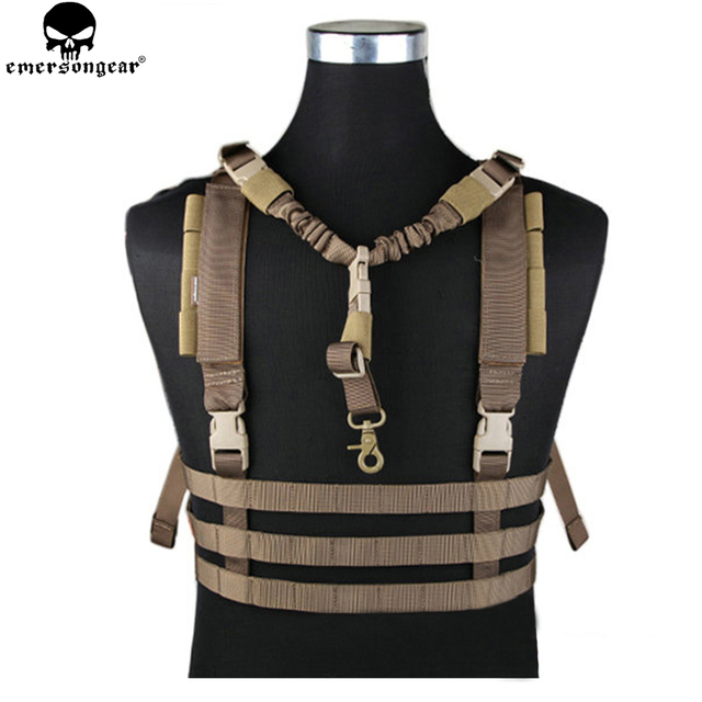 EMERSONGEAR MOLLE System Low Profile Chest Rig Vest Military Army Hunting Airsoft Vest Profile Chest Rig Tactical Vest EM7452