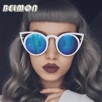 Fashion Cat Eye Sunglasses Women Brand Designer Sun Glasses For Ladies Vintage Oculos UV400 Mirror Colorful