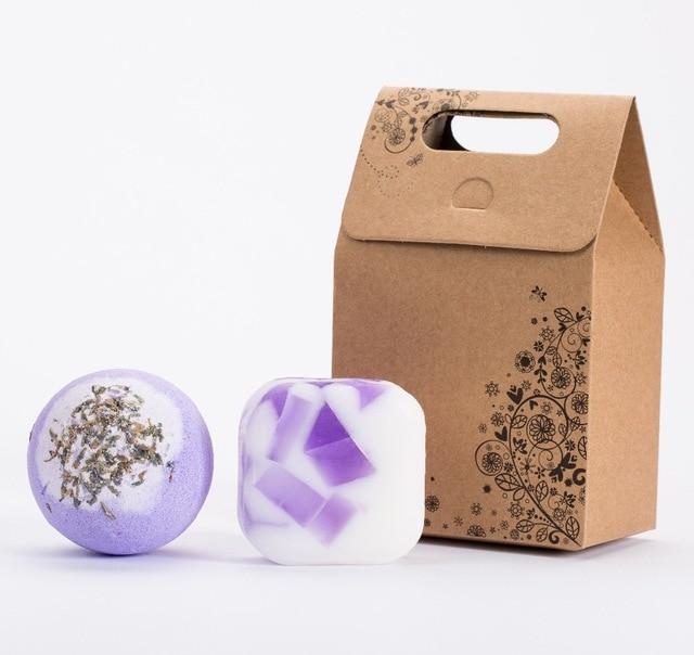 120g bath bombs100g handmade soap aromatic scents moisturizing nourishing ingredients Valentine's day bath bomb ball gift sets.