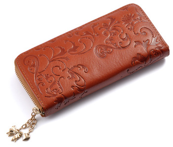 Floral Embossed Leather Women's Wallet Bags and Wallets Best Seller Hot Promotions Women's Wallets Color: B015b