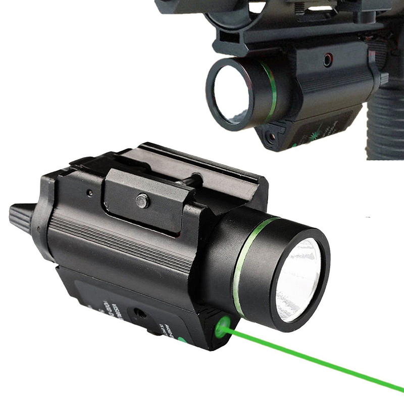 FYZCION Outdoor Hunting light Tactical Fleshlight M6 LED Flashlight Combo Green Laser Sight For Rifle scope fits 20mm rail