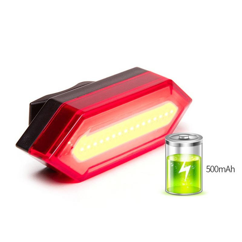 Bike Light Taillight Safety Warning USB Rechargeable Bicycle Light Tail Lamp LED Cycling Bycicle Warning Light