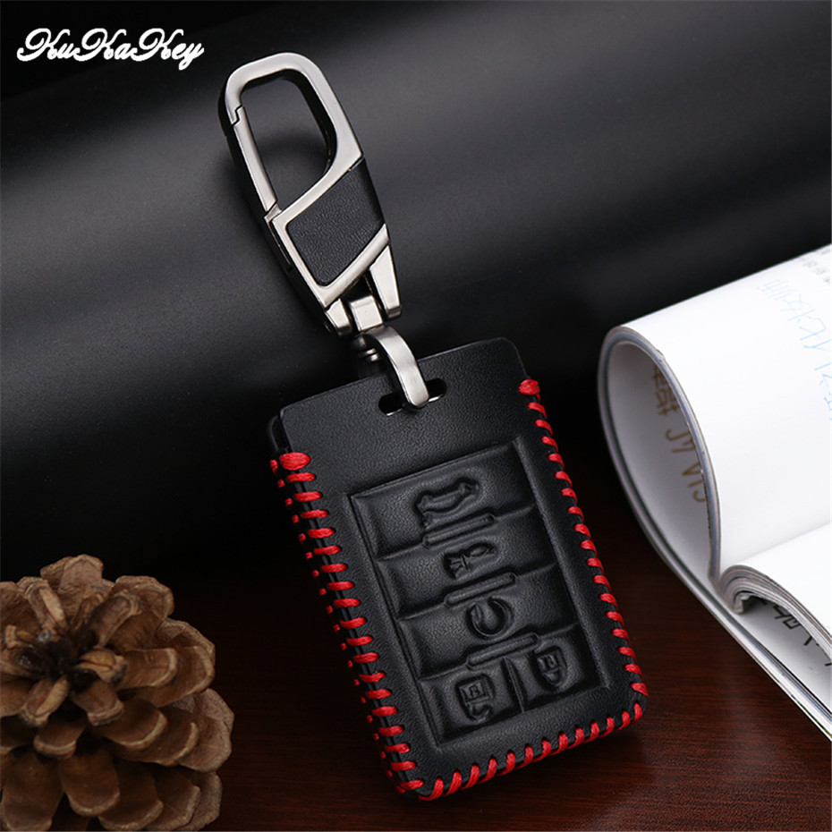Leather Key Protective Shell Key Case Cover for Cadillac STS SLS CTS ATS SRX XTS DTS Seville Escalade Accessories Car Styling