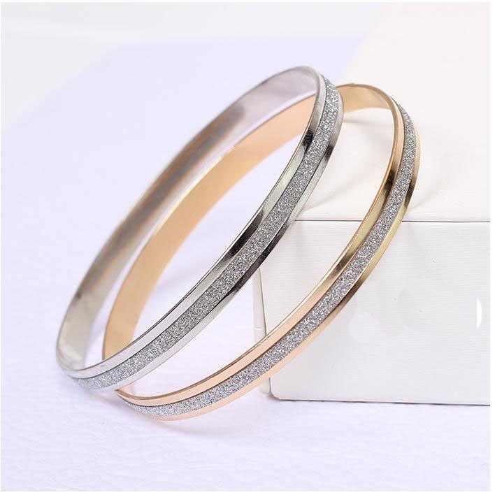 2019 Trendy Crystal Bracelets for Women Silver Gold ID Bracelets Stainless Steel Bangles Jewelry