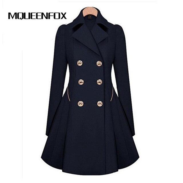 2019 New Winter   Trench   Coat Female Long Sleeve Overcoat Fashion Thin Womens Coat Windbreaker Women   Trench