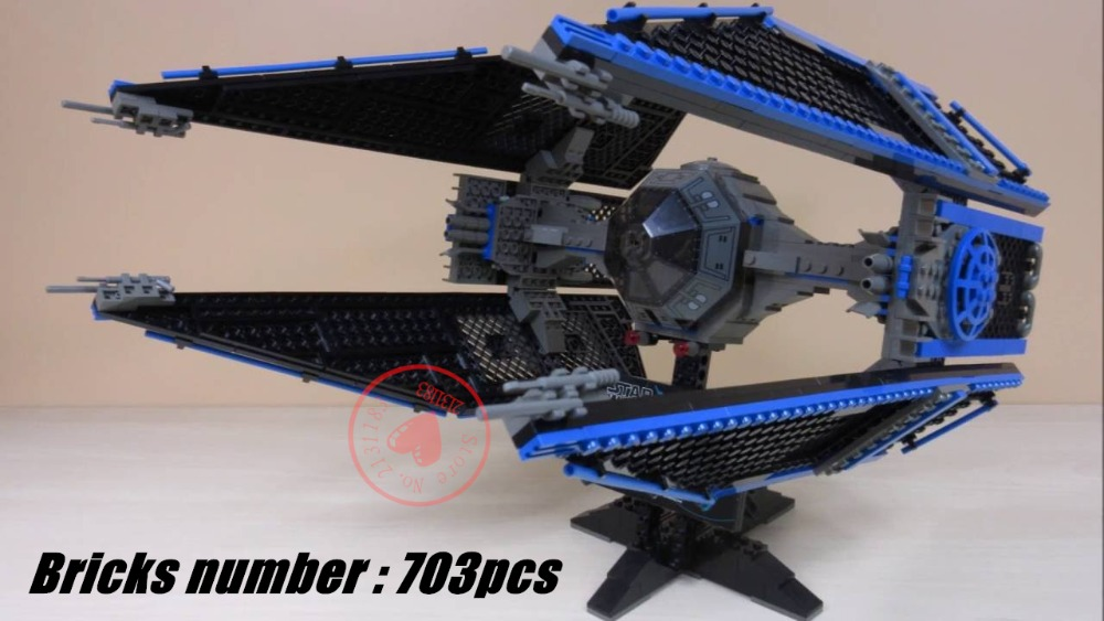 05044 Star ship wars Limited Edition TIE Interceptor Model Building kit Blocks Bricks Toys compatiable with lego kid gift set 1pc iron man star wars c3po mr gold bike building blocks limited edition chrom golden diy figures kids assemble bricks xmas toys