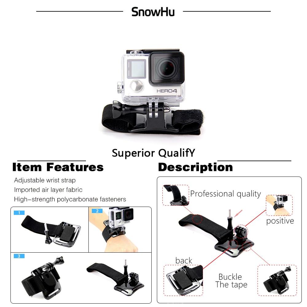 SnowHu para Gopro accesorios para ir pro hero7 6 5 5S kit tres selfie palo para Eken h9 xiaomiyi 4 K caso de EVA GS18 - 3