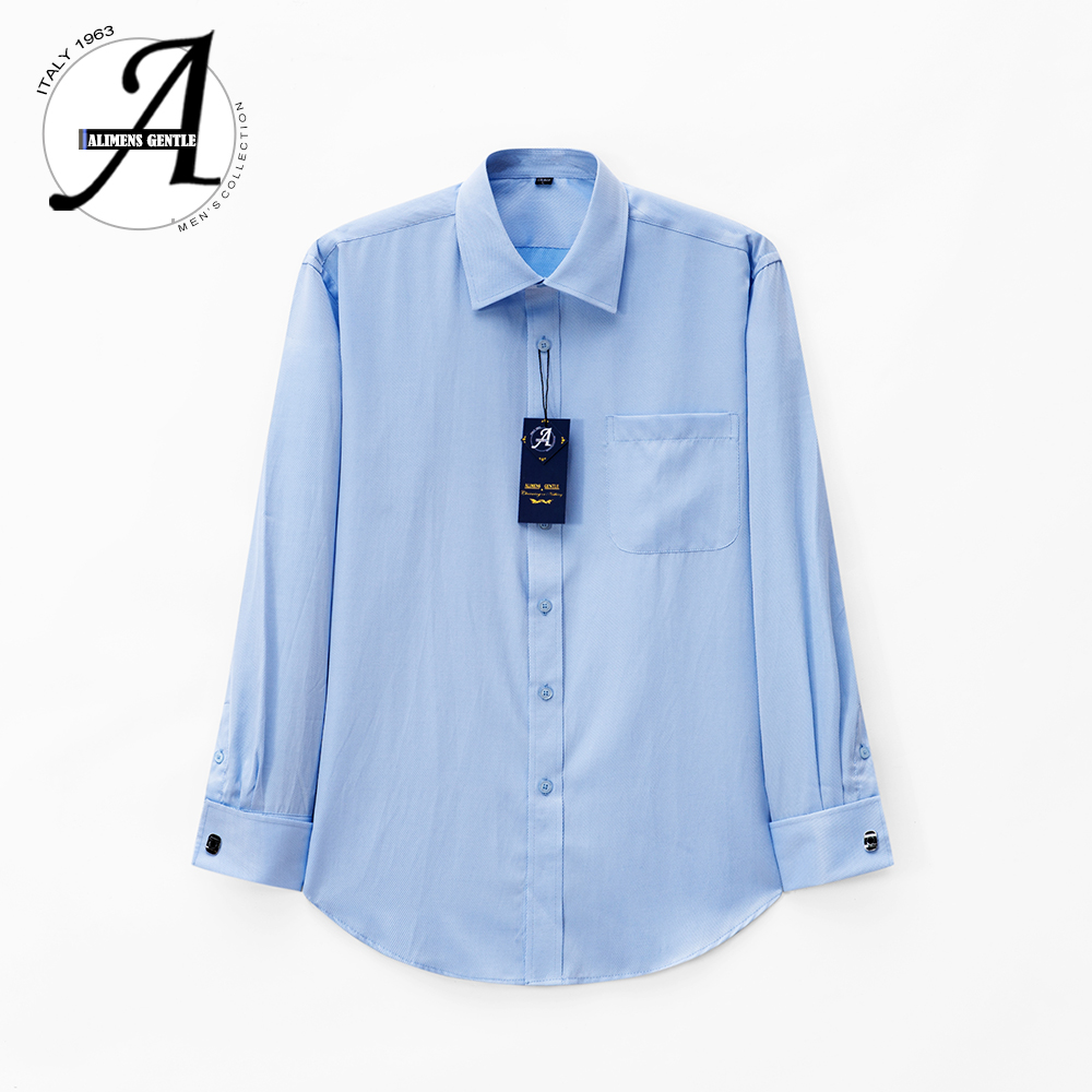 Alimens 13XL 8XL 7XL Big Size Slim Fit Male Casual Shirts Brand Camisa Masculina Long Sleeve French Cuff Dress Shirts For Men 4