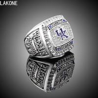 LAKONE Champions Ring 2012 University Kentucky Wildcats World Super Bowl Championship Ring Sports Fans Ring Men
