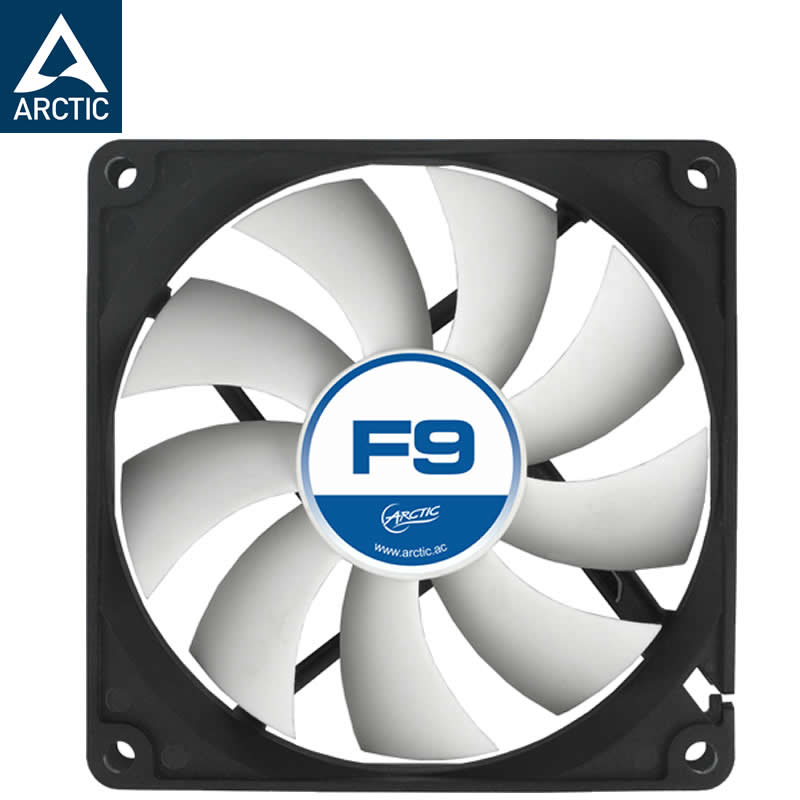 Arctic F9 fan 9cm 90mm 92mm 3pin 1800rpm Cooler cooling fan silent Genuine original free shipping new original sanyo 9bam24p2g17 dc24v 0 9a 97 33mm 9cm large wind blower cooling fan