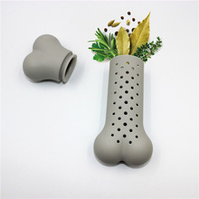 Household Practical Bone Shape Herb Spice Strainer Filter Resuable Silicone Infuser For Tea Seasoning Pot Free Shipping