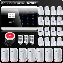 Беспроводная система сигнализации PSTN, GSM, для дома, приложение, ISO, беспроводной датчик движения, датчик двери, английский, русский, французский, испанский