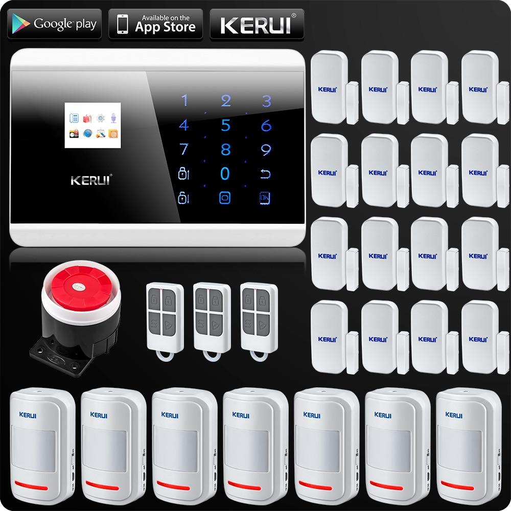 Wireless PSTN GSM Alarm System Security Alarm For Home App ISO Wireless Motion Sensor Door Sensor English Russian French Spanish