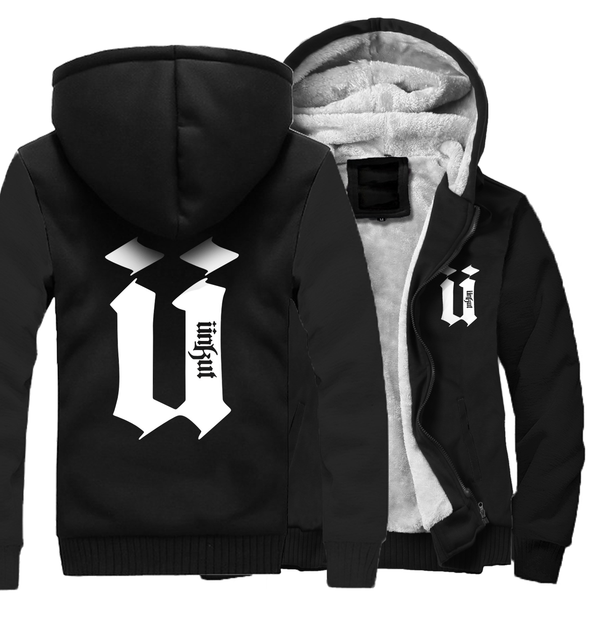 Fashion Brand Sweatshirts Men 2019 Winter Fleece Hoody Zip Up Thick Jacket Harajuku Hoody Men 39 s Tracksuit Hip Hop Hoodies Kawaii in Hoodies amp Sweatshirts from Men 39 s Clothing