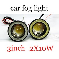 2 pieces LED Fog Driving Lights 10W Angle Eyes 12V 3 inch lamp bulb best selling