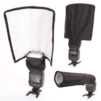 Universal Foldable Flash Reflector Snoot Diffuser Softbox For Canon Nikon Sony Yongnuo Pentax