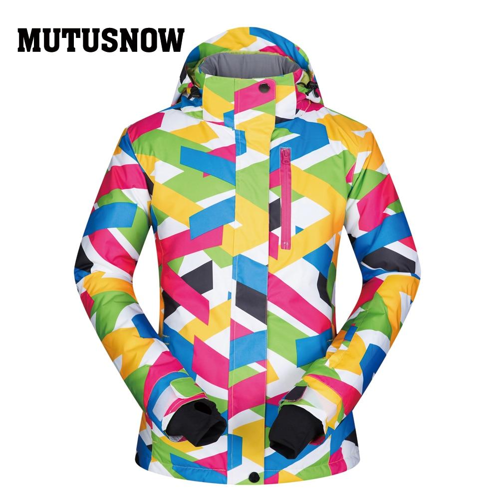Ski Jacket Women Windproof Waterproof Breathable Warm Clothes Women Snow Coat Wear -30 Degree Winter Skiing Snowboarding Jacket