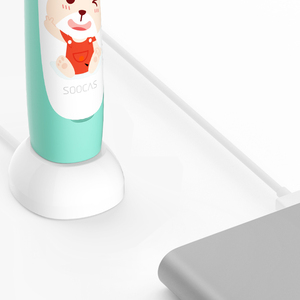 Image 5 - SOOCAS C1 Sonic Electric Toothbrush For Kids Ipx7 Waterproof Children Soft Tooth Brush Wireless Charging Cartoon Pattern